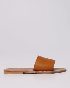 Adline pointed leather court shoes