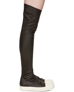 Black Stocking Over-the-Knee Boots