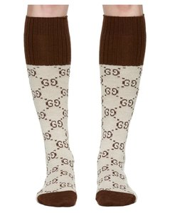 Beige Knee-High GG Socks