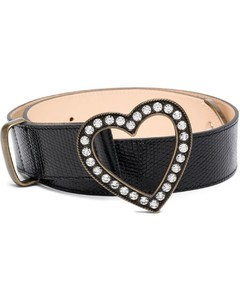 Black Leather Buckles Belt