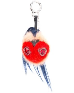 Mini Monster Keychain w Heart Eyes
