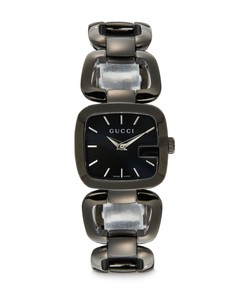 Blackened Stainless Steel Square Link Watch