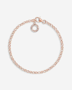 18ct rose-gold plated charm bracelet