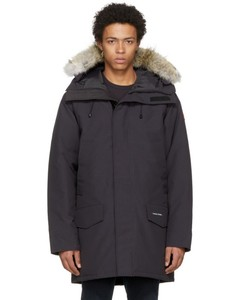 Navy Down & Fur Langford Parka