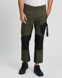 Black Wool Belted Trousers