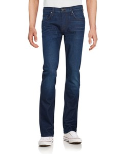 Straight-Fit Solid Jeans