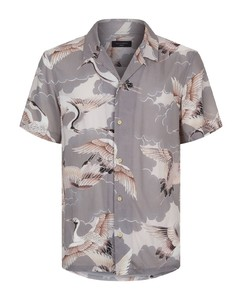 Romaji Stork Printed Short Sleeve Shirt