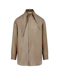 Black Embroidered Cross Shirt