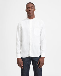 The Linen Band Collar Shirt