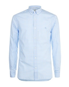 Gingham Print Long Sleeve Shirt