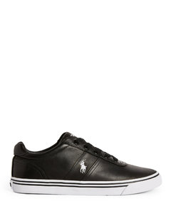 Men's leather driver in dark navy