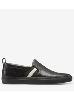 Men's calf leather sneaker in black
