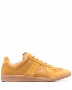 Sneaker Argyle high top leather black camouflage green