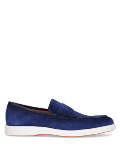 Espadrilles VLAD nubuck leather black crocodile embossment