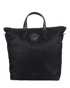 Black Medium Logo Zip Pouch
