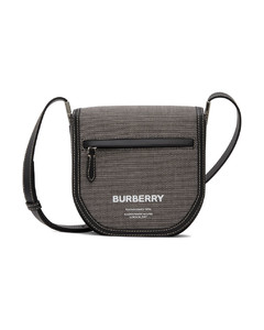 Logo-plaque saffiano-leather pouch