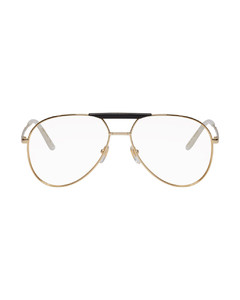 Gold & Black Cruise Pilot Glasses