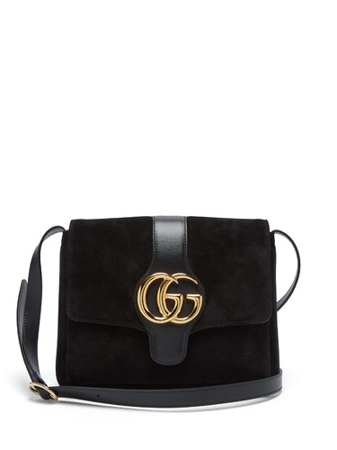 GG Arli suede and leather cross-body bag