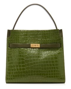Lee Radziwill Embossed Leather Double Bag