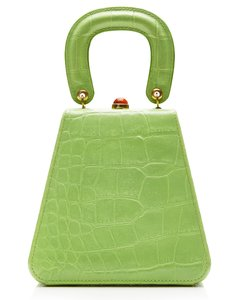 Kenny Croc-Effect Leather Top Handle Bag