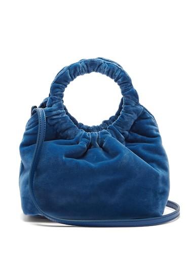 Double Circle small velvet bag
