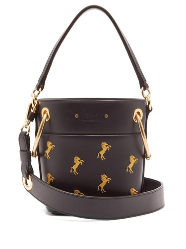 Roy Little Horse-embroidered mini bucket bag