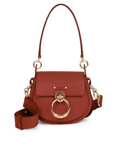 Tess Small Leather Saddle Bag