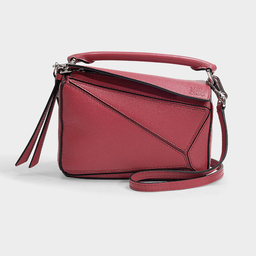 Puzzle Mini Bag In Pink Calfskin