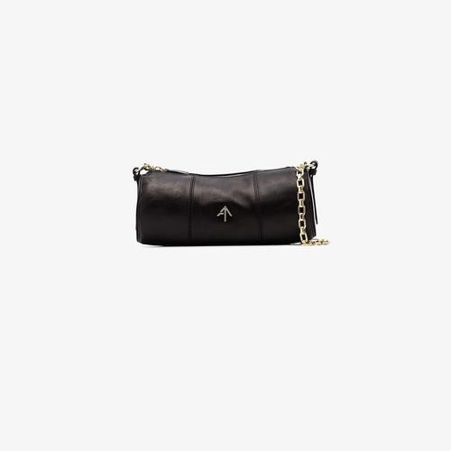 black Cylinder leather shoulder bag
