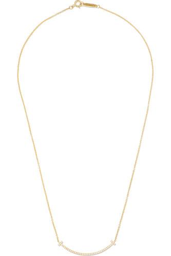 T Smile 18K黄金钻石项链(16英寸)
