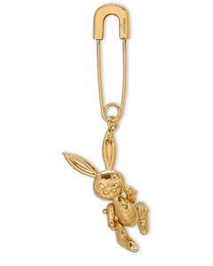 Gold Inflatable Bunny single earring