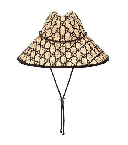 GG酒椰叶纤维宽檐帽